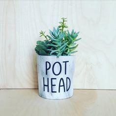 Concrete Planter - Pot Head