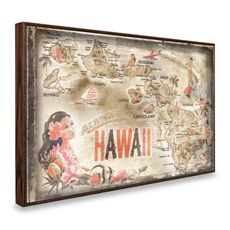 Vintage Greetings from Hawaii Wall Plaque - Bed Bath & Beyond