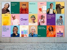 Poster Series for Over by Kaeli Justus for Over on Dribbble Graphisches Design, Layout Design, Flyer Design, Identity Design, Visual Identity, Modele Flyer, Parions Sport, Magazin Design, Plakat Design