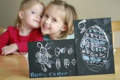 Chalk Pictures for Easter - Canvas Home Basics Chalkstock Easter Cards #chalkstock