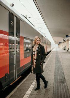 Anzeige: Von A nach B mit ÖBB Rail&Drive - Over the top by Chris Der Bus, Over The Top, Trains, Raincoat, World, Interior, Jackets, Autos, Vehicles