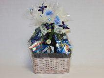 Darčekový kôš - modrá ruža