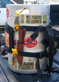 KA-BAR Brown Ale keg ready for launch