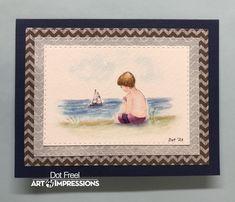 Design, Dots Art, Watercolor, Art Impressions Stamps, Art, Watercolor Design
