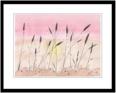 NEW WHEAT - a watercolour painting of a fresh crop of wheat on the Canadian Prairies