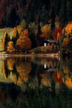 Love the autumn reflection!