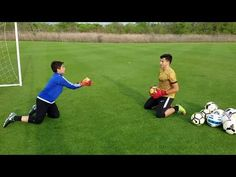 Another young goalkeeper training session with 11 year old J. Sebastian Lutin and personal coach Roel Martinez. Soccer Practice Drills, Soccer Drills For Kids, Football Drills, Soccer Skills, Football Soccer, Soccer Sports, Soccer Tips, Nike Soccer, Goalkeeper Drills