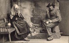 Carte postale Distraction des vieux jours, Vieillards des environs de Quimper, Bretonen | akpool.fr