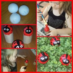 Beau Live, Love, Laugh: Our Ladybird Golf Balls! Golf Ball Arts And Crafts.  Painting Golf Balls. Garden Ornaments. Ladybirds. Ladybugs.