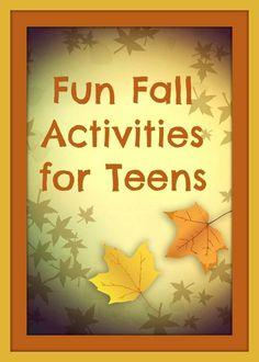 Fun Fall Activities for Teen Dazzling Daily Deals Dazzling Daily Deals Fun Fall Activities, Activities For Teens, Halloween Activities, Fall Crafts For Kids, Autumn Inspiration, Scary Halloween, Fall Season, Tween, Fall Decor