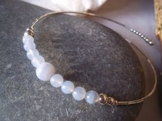 Blue lace agate & sterling silver bangle by on Etsy Silver Bangle Bracelets, Jewelry Bracelets, Blue Lace Agate, Sterling Silver Jewelry, Handmade Jewellery, Gifts, Accessories, Dawn, Etsy