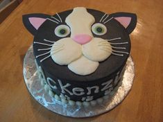 Cat face cake decoration