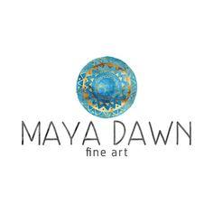 Mandala Logo Design, Circle Logo, Turquoise and Gold, Turquoise Logo, Gold Logo, Tribal Logo, Ethnic Logo, Native Logo, Navajo Logo   This shop