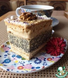 Пирожные маковые с кофейным кремом - кулинарный рецепт
