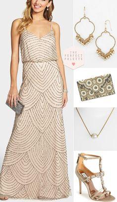The Perfect Palette: Bridesmaid Looks You'll Love: Embellished Gowns! Marchesa, Elie Saab, Zuhair Murad, Wedding Attire, Formal Wedding, Wedding Outfits, Red Wedding, Wedding Dresses, Wedding Ideas
