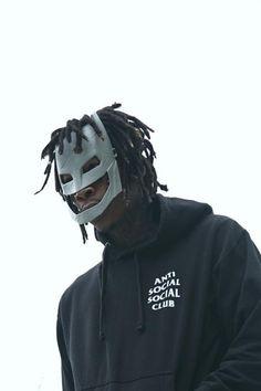 Wiz Khalifa wearing  Anti Social Social Club Hoodie