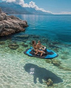 Good vibes only ? tag ur BFF that u would want to ride into outer space w on a floating jet ski ? this is in Croatia btw. Cute Friend Pictures, Best Friend Pictures, Summer Aesthetic, Travel Aesthetic, Summer Feeling, Summer Vibes, Summer Beach, Pink Summer, Summer Goals