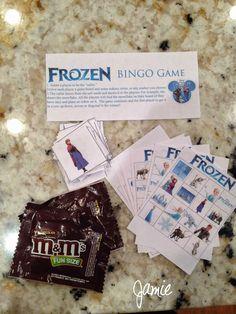 Frozen Birthday Party on a budget: Frozen BINGO game