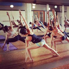 #yogaflashback: The teacher training group from Victoria find stillness in triangle.   Find stillness with us: www.evolationyoga.com/teach   #yoga #love #hotyoga #yogateachertraining