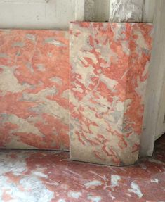 Rouge Languedoc faux marble from the Versailles Palace, France