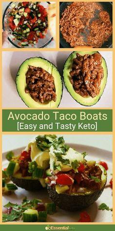 Low Carb Avocado Taco Boats