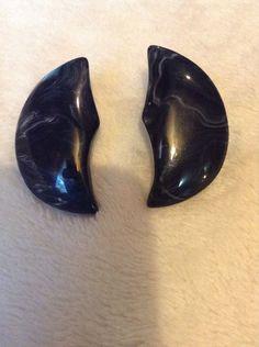 Vintage Black Earrings #934