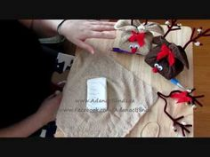 Reindeer Soap/Towel Gift Set - Christmas Crafting [Tutorial]   Great way to wrap a gift of soaps