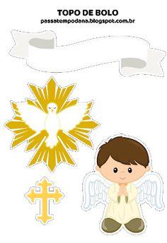 Passatempo da Ana: Topo de Bolo: Batizado (Menino)