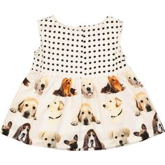 White Polka Dot Dogs Dress - Day Dresses - Dresses & Skirts - Girls - Kids - TK Maxx