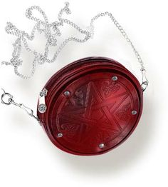 Red Pentagram Leather Purse by Alchemy Gothic Gothic, Vampire & Steampunk Wiccan Jewelry, Gothic Jewelry, Leather Purses, Leather Handbags, Mojo Bags, Gothic Accessories, Purses And Handbags, Alchemy, Pagan