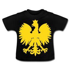 Polska Baby Shirt [Schwarz/Goldgelb/Samtig] - Baby T-Shirt