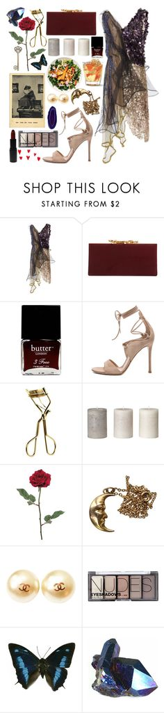 """""""Sin título #1355"""" by meelstyle ❤ liked on Polyvore featuring Rodarte, Jimmy Choo, Butter London, Gianvito Rossi, MAC Cosmetics, Chanel, MAKE UP STORE and H&M"""