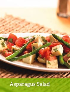 Asparagus Salad {lean}  http://www.youfit.tsfl.com  http://www.facebook.com/healthconfessions