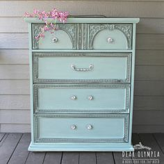 CeCe Caldwells Paints new Duck Blue color / natural chalk + clay paints available at DearOlympia.com.