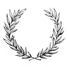 Ornate wreath - amy rochelle press needle work 3 tatuajes to Flower Tattoos, Leaf Tattoos, Small Tattoos, Sleeve Tattoos, Tattoos For Guys, Neck Tattoo For Guys, Laurel Tattoo, Laurel Wreath Tattoo, Olive Tattoo