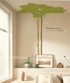 You Are Always Welcome Under My Tree Wall Sticker