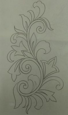 Hand Embroidery Design Patterns, Kurti Embroidery Design, Hand Work Embroidery, Embroidery Flowers Pattern, Embroidery Motifs, Ribbon Embroidery, Fabric Paint Designs, Embroidery On Kurtis, Motifs Perler