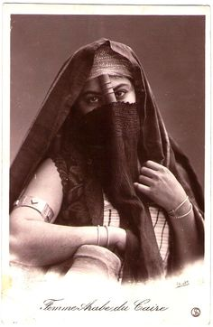 """EGYPT Woman from Cairo, """"Femme Arabe du Caire"""", late1800's.   Photographer by Andreas Daniel Reiser (1840-1898)"""