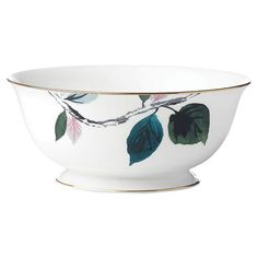 Shop the Lenox Kate Spade New York Birch Way Serving Bowl and other Serving Trays, Bowls & Platters at Kathy Kuo Home Casual Dinnerware, Mirror Art, Pendant Chandelier, Gold Bands, Antique Gold, Light In The Dark, Serving Bowls, Decorative Bowls, Kate Spade