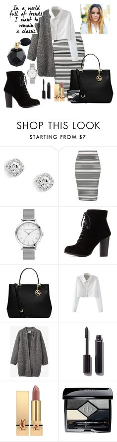"""Formal Vote"" by katieze ❤ liked on Polyvore featuring Topshop, Charlotte Russe, MICHAEL Michael Kors, WithChic, Toast, Chanel, Yves Saint Laurent, Christian Dior, formal and Vote"
