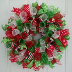 Hey, I found this really awesome Etsy listing at http://www.etsy.com/listing/169577290/christmas-mesh-wreath