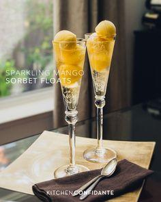 Sparkling Mango Sorbet Floats   Kitchen Confidante