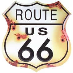 Route 66 Distressed Look Tin Sign Collectible Badges http://www.amazon.com/dp/B005JPCDLA/ref=cm_sw_r_pi_dp_74h0tb1R2HKDWA1P