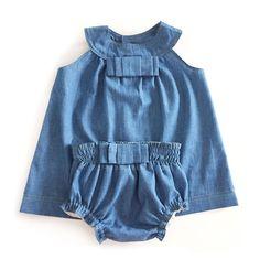 Vestido Vaquero de Bebé – Tutorial y patrón