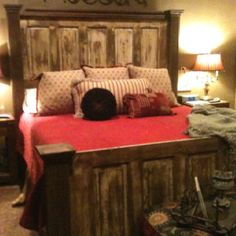 Made this bed from old doors