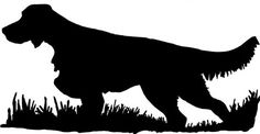 English Setter (classic) Bird Dog Silhouette, Upland Hunting Decal