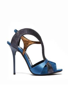 fall 2012, Diego Dolcini, shoes, high heels, sandals, blue