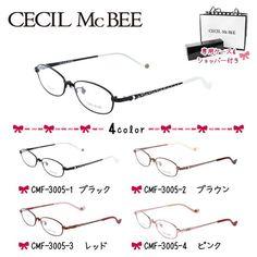 セシルマクビー フレーム 伊達 メガネ 眼鏡 CECIL McBEE CMF3005-1/CMF3005-2/CMF3005-3/CMF3005-4 レディース|treasureland