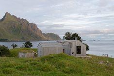 Carl-Viggo Hølmebakk created Summer House Gravråk, a spruce-clad retreat on Norway's Lofoten archipelago.