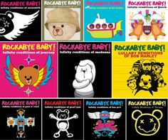 Rockabye Baby CDs-  on babysteals today!! /// SO much fun if you're a fan of rock'n'roll. I think it's free on Spotify, available on iTunes, and also up for purchase on their website. Huge selection and sweet simple music guaranteed to be enjoyed by both you and baby. Start the brainwashing early! ~db